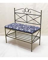 Очень красивый стильный диванчик кованый с мягкой спинкой и сидушкой ДС6