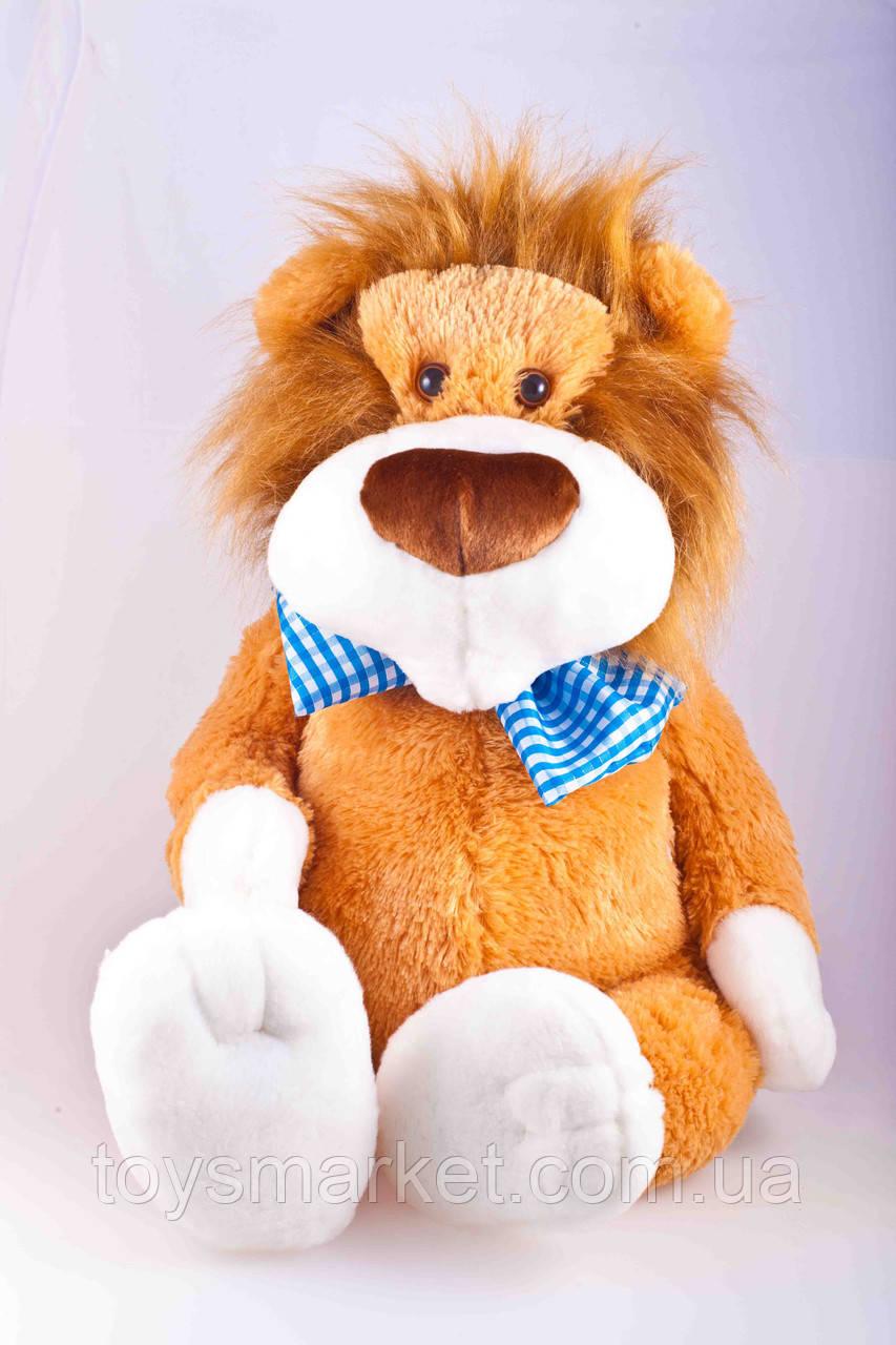 Детская мягкая игрушка,лев Праздничный,коричневый