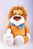 Большая мягкая игрушка,лев Праздничный,коричневый