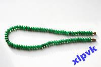 Ожерелье GREEN EMERALD-Зеленый Жадеит.SUPER.ИНДИЯ