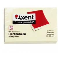 "Стикер, бумага для заметок ""Axent"" 50x75, 100 л."