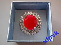 Кольцо натуральный рубин.Овал 14 х1 2 мм,17 р-925 пр.-ИНДИЯ