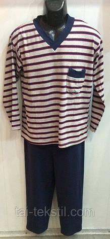 KSM пижама мужская на байке рисунок в полоску Турция, фото 2