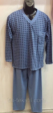 KSM пижама мужская на байке рисунок в ромбик Турция, фото 2