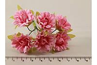 Роза чайная искусственная розовая (букет) 5634-1-12