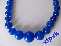 Ожерелье BLUE SAPPHIRE,ЖАДЕИТ-6-14m-ИНДИЯ