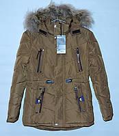 Зимняя куртка для мальчика 9-13 лет Sulan коричневая