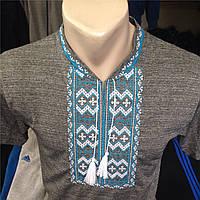 Вышиванка мужская трикотажная   короткий рукав оптом и в розницу, Хмельницкий