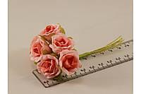 Роза искусственная розовая (букет) 5634-1-13