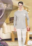 KSM пижама мужская с начесом на байке рисунок в клетку производство Турция