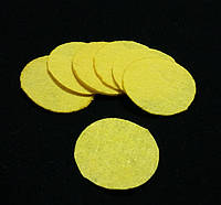Фетр в кружочках желтый