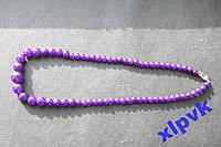 Ожерелье Amethyst,Фиол.Жадеит.6-14мм, 18k GP-ИНДИЯ