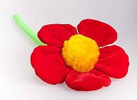 Детская мягкая игрушка,цветочек,красный