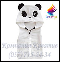 ОПТ Детские жилеты кигуруми панда (заказ от 50 шт)