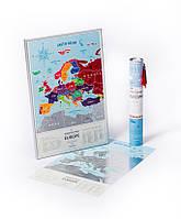 Скретч-карта Европы Travel Map ™ «Silver Europe», фото 1