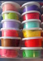 Чудо пластилин для детей, застывает и стает каучуковый, в коробке