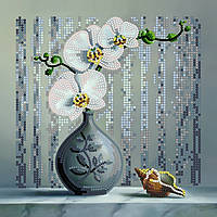Набор для вышивки бисером Идейка Орхидея (ВБ1007) 20 х 20 см