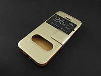 Чехол книжка для Apple iPhone SE 5 5S золотистый