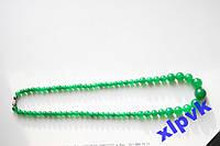Ожерелье-Зеленый Изумруд-Жадеит 6-14 мм, ИНДИЯ-№2