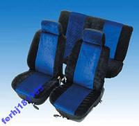 Чехлы сидений 2104-07 черные с синими вставками