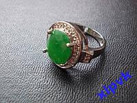 Кольцо Натуральный изумруд.Овал 12 х 10 мм-17 р-925 -ИНДИЯ