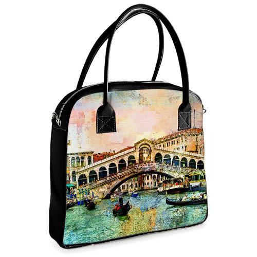 Сумка Ксения с принтом Венеция