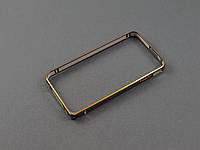 Бампер металл для Apple iPhone 4 4s черный с золотым