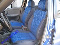 Чехлы сидений 2101-03,06 черные с синими вставками