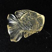 Рыба желто-лимонный кварц 13,12 кт