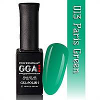 ГЕЛЬ-ЛАК GGA №013 PARIS GREEN 10 МЛ