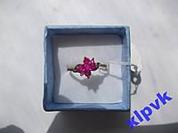 Кольцо 7 натуральных рубинов- 18 р-750 пр-ИНДИЯ