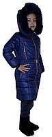 Стильная зимняя детская курточка с мехом