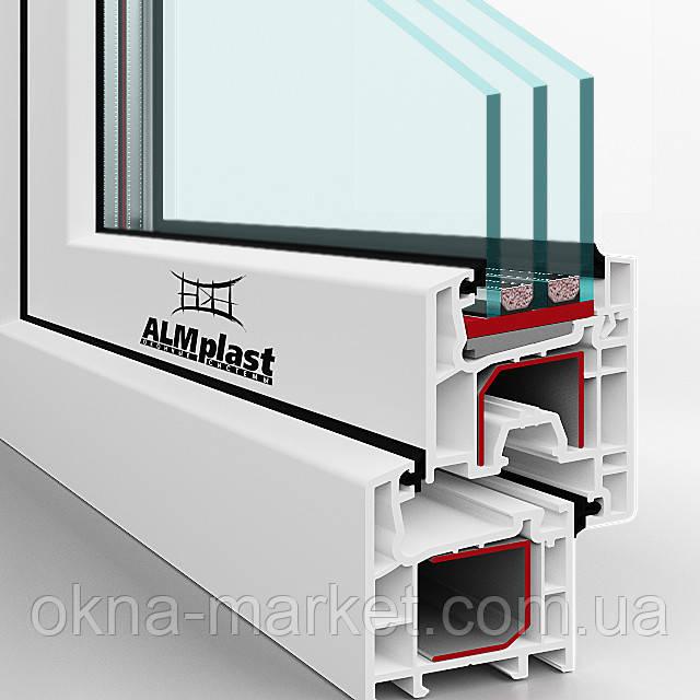 Профиль ALMplast в сечении, фирма по окнам