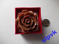 Кольцо Темно-Коричневый Коралл-Роза 30мм-Австралия
