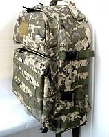 Тактический туристический супер-крепкий рюкзак трансформер 40-60л черный. Армия,рыбалка,спорт,туризм