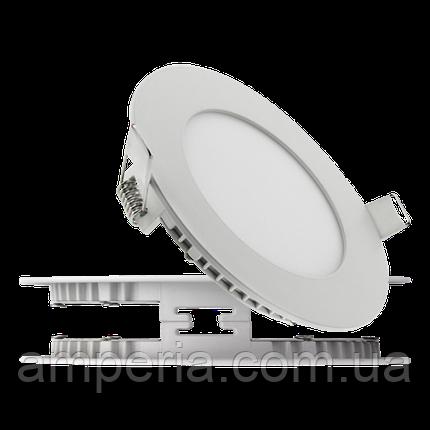 Евросвет Светильник LED-R-120-6 6Вт 4200К круг Встраиваемый 120мм, фото 2