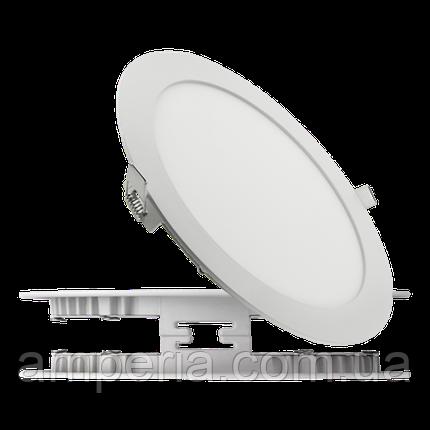 Евросвет Светильник LED-R-150-9 9Вт 6400K круг Встраиваемый 150мм, фото 2