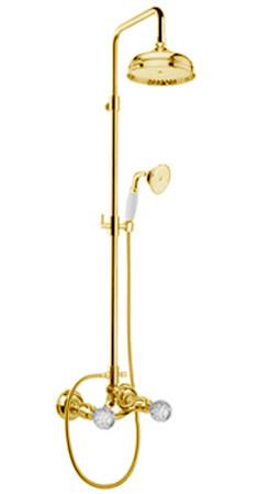 Смеситель для душа Webert Karenina с душевой стойкой и душевой головкой (золото) KA760405010