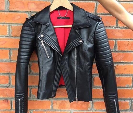 кожаная куртка косуха женская фото