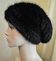 Женская меховая шапка Вязанная норка
