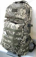 Тактический туристический супер-крепкий рюкзак 60л пиксель. Армия, рыбалка, туризм, охота, спорт