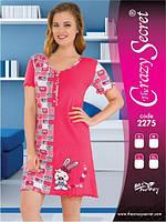 Платье  из хлопка  для сна и дома