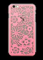 Накладка для айфон Luoya для iPhone 6 узоры / кружево цвет розовый