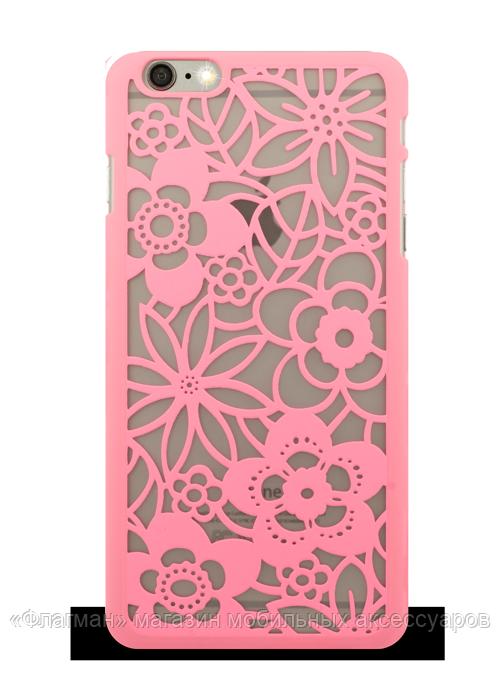 Накладка для айфон Luoya для iPhone 6 узоры / кружево цвет розовый - «Флагман»  интернет - магазин мобильных аксессуаров в Днепре