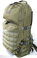 Тактический армейский туристический крепкий рюкзак 60л олива. Армия, охота, спорт, туризм, рыбалка