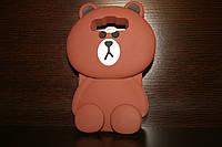 Чехол - накладка медведь Animals new качественная резина для Samsung А5 2015