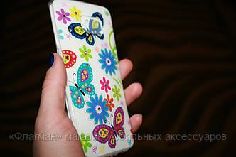 Чехол - накладка силикон 0.5 мм со стразами для Samsung S6 edge