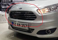 Ford COURIER (2014+) Накладки на решетку радиатора (нерж.) 4 шт.  Omsa