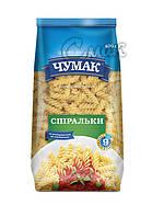 """Макароны """"Чумак"""", """"Спиральки"""", из твёрдых сортов пшениы 0,4 кг"""