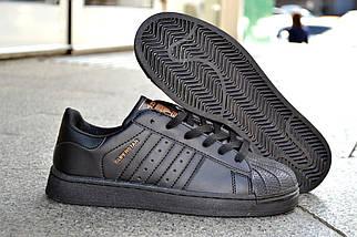 Кроссовки Adidas Superstar, черный, мужские, женские, фото 2